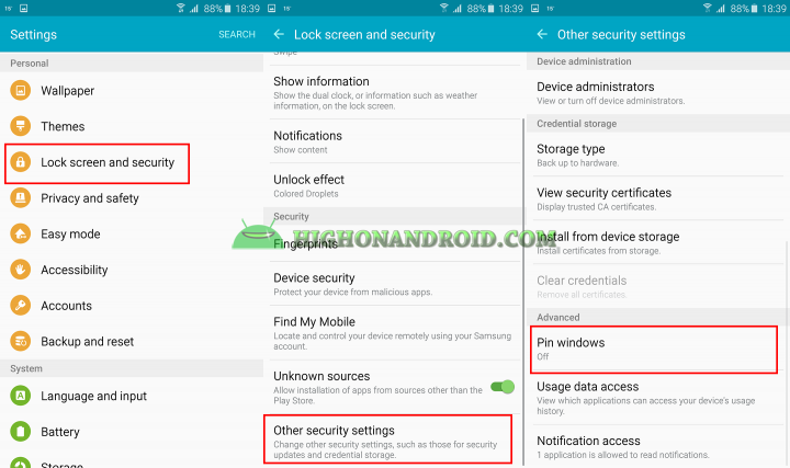 how to use screen pinning feature on galaxy note 5