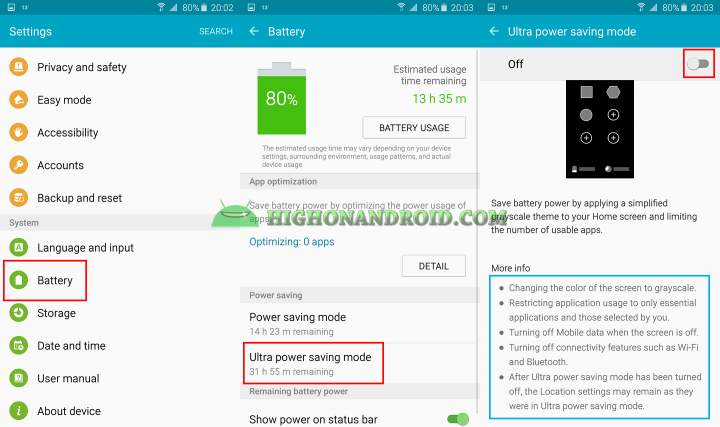 how to use ultra power saving mode on galaxy note 5