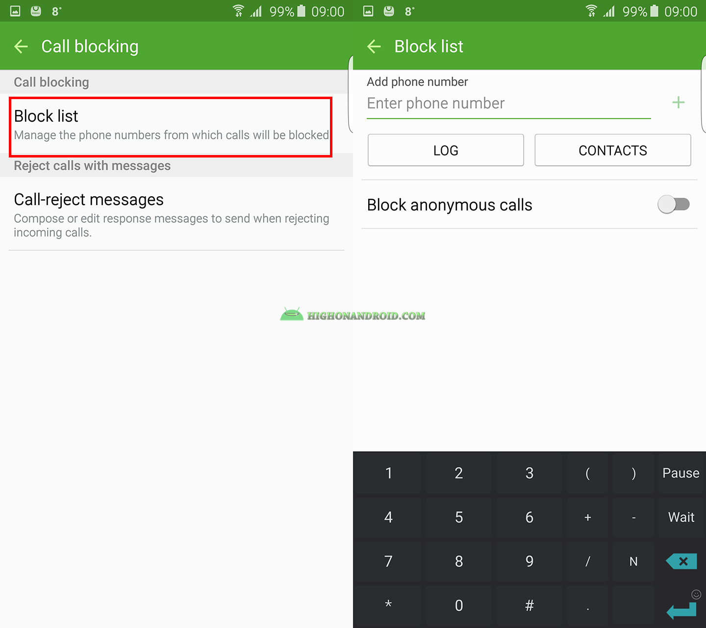 How To Block Calls On Galaxy Note 5 2 Block A Phone Number