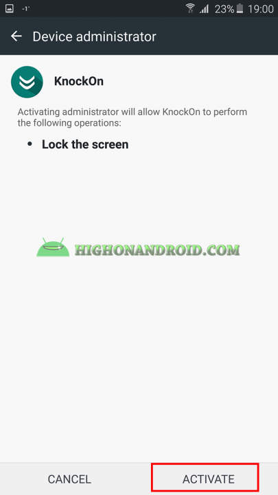 Add Double Tap to wake up gesture to your android device using KnockOn App 3