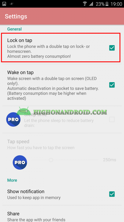 Add Double Tap to wake up gesture to your android device using KnockOn App 5